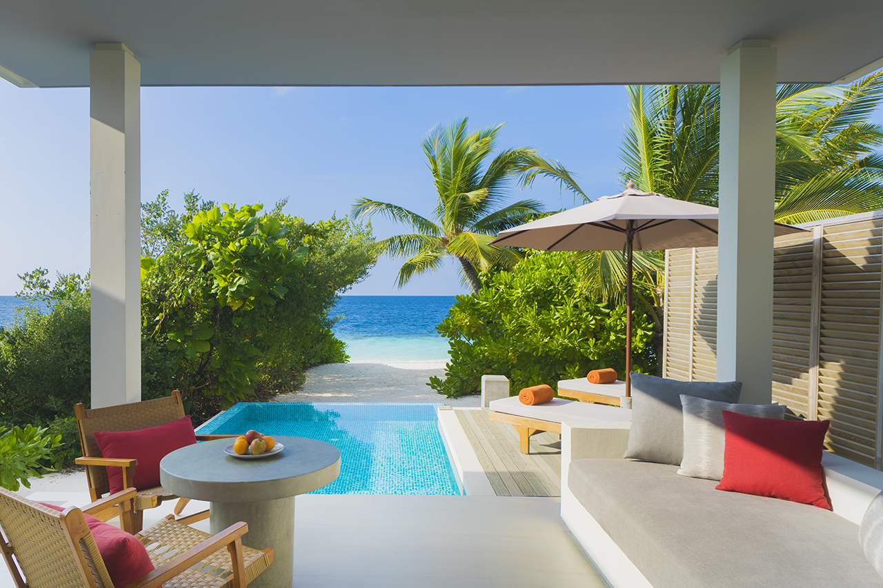 Maldives Resort With Private Pool Beach Villas With Pool